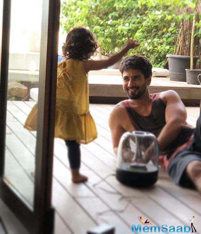 In a recent photograph uploaded by the actor on his Instagram profile, he can be seen having a great father-daughter time with Misha who is seated in front of him on a motor bike. It was a cute-daddy-cute-baby moment.