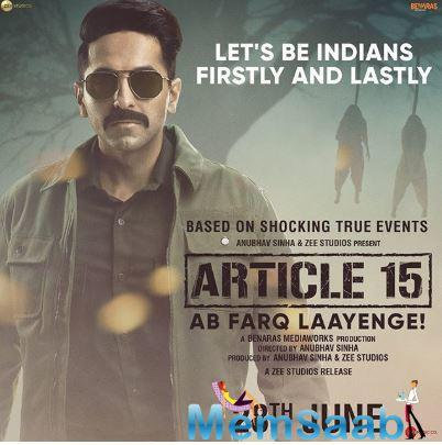 The investigative drama will be shown on the opening night. Ayushmann will be the man of law for the first time onscreen essaying the role of a heroic cop.