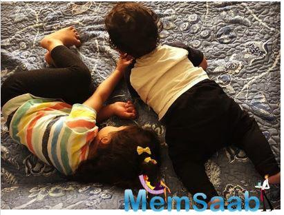 Engaging in a playful banter is the birthright of every brother and sister. And how can Misha and Zain be left behind?