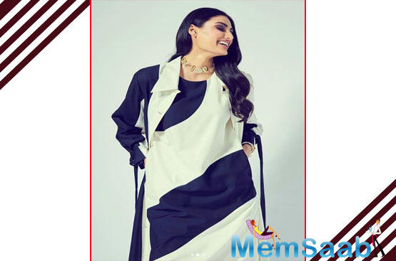If her last two offerings have seen her in a glamorous avatar, Athiya Shetty's upcoming comedy, Motichoor Chaknachoor, sees her play a small-town girl who harbours dreams of settling abroad.