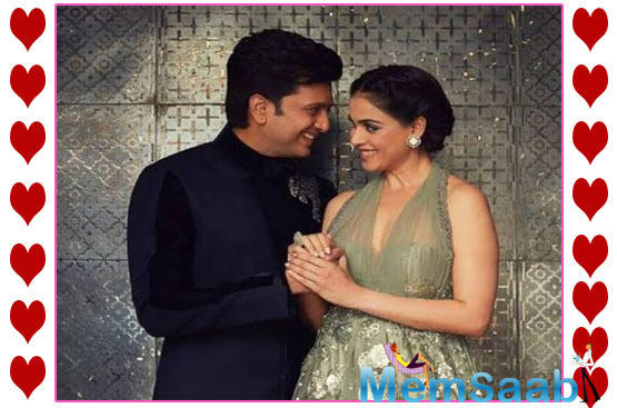 Celebrating the special day, the 'Jaane Tu Yaa Jaane Na' actress took to the photosharing app to post a romantic wish for hubby Riteish Deshmukh.