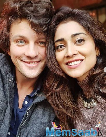 Shriya and Andrei are one of the cutest couples of the industry.