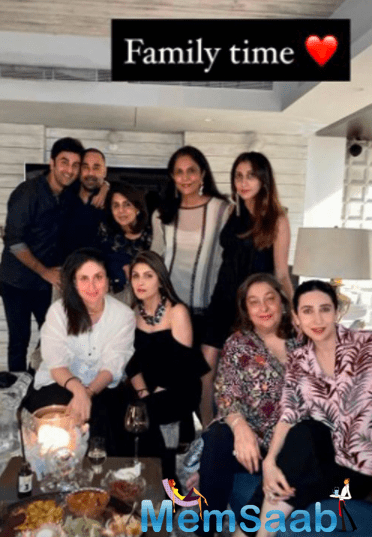 Karisma Kapoor shared some inside photos from the family get-together that show the birthday girl cutting her cake and the family posing for some fun photos.