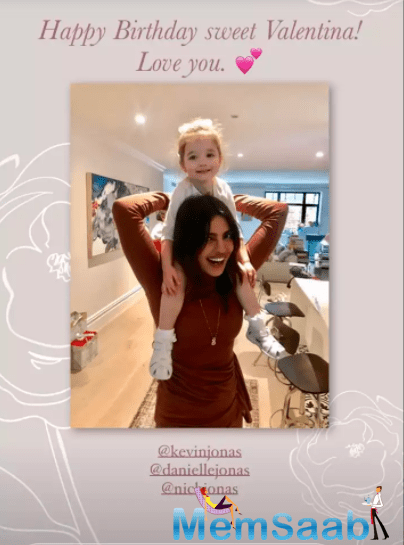 The star icon took to her social media handle to share an adorable picture with her niece, where the little girl is seen sitting on her shoulders.