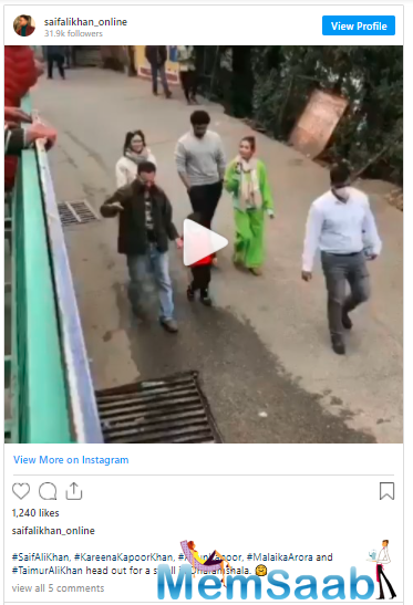Given the toddler's unpredictable nature, he began to blabber and it seems he was shouting 'Go go go.' A fan-club of Saif Ali Khan took to its Instagram account to share the video.