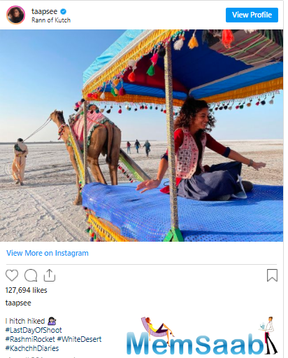 The 'Pink' star hopped on to Instagram to post a happy picture of herself as she cherishes a camel ride.