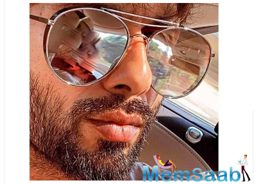 Today the actor took to his social media handles to share an uber-cool close up selfie of himself that featured his new beard look.