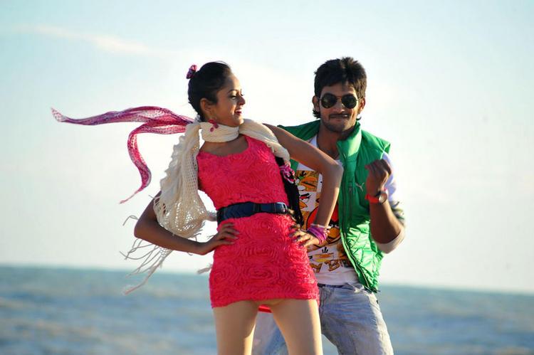 Aadi and Shanvi Lovely Movie Romantic Song Photo