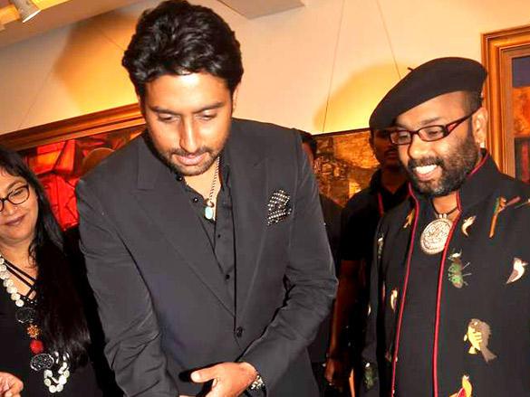 Abhishek at Paresh Maity's Art Event