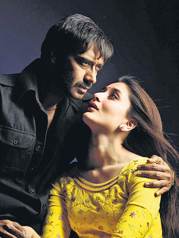Ajay Devgan and Kareena Romance Still