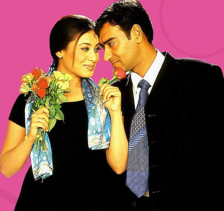 Ajay Devgan and Rani Romance Still