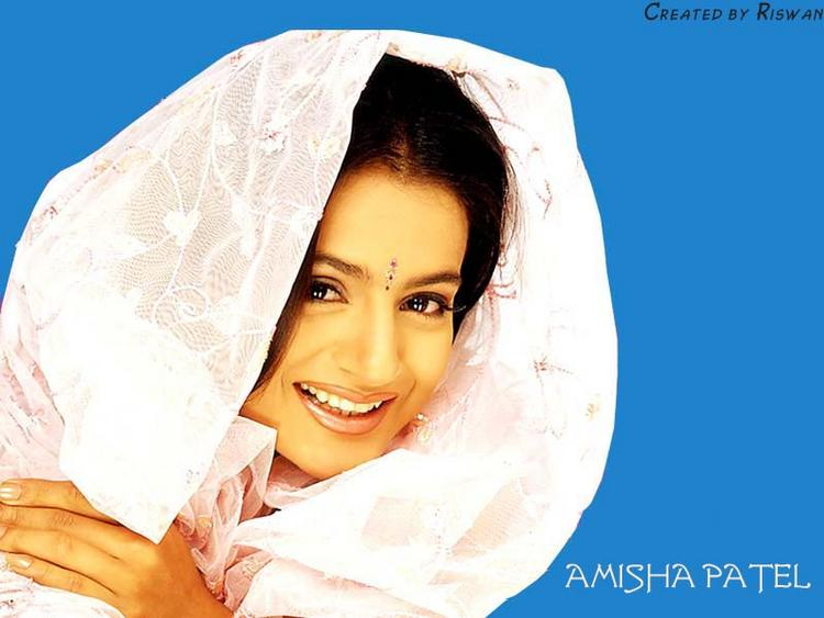 Amisha Patel Gorgeous Smile Wallpaper