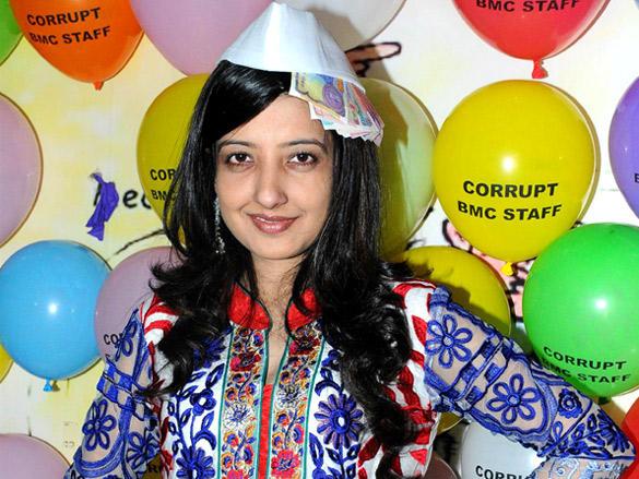 Amy Billimoria at Viren Shah's Happy Slappy party
