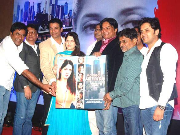 Ashok Samarth,Chetan Pandit,Archana Joglekar,Akhilendra Mishra,Raghuveer Yadav at 'Married 2 America'  Audio release
