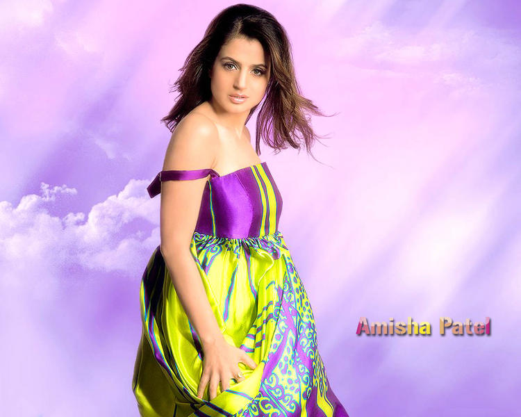 Cute Amisha Patel Hot Wallpaper