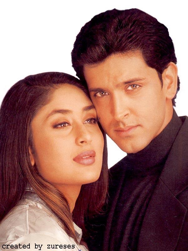 Hrithik and Kareena Glamour Face Wallpaper