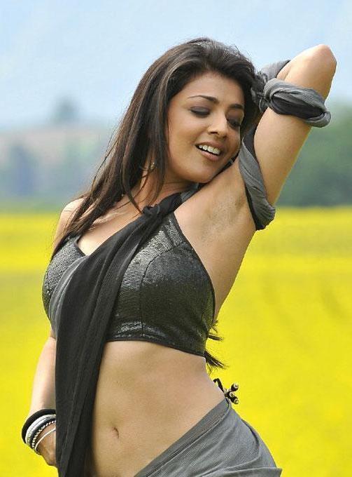 Kajal Agarwal Hot Navel Stills From Veera Movie