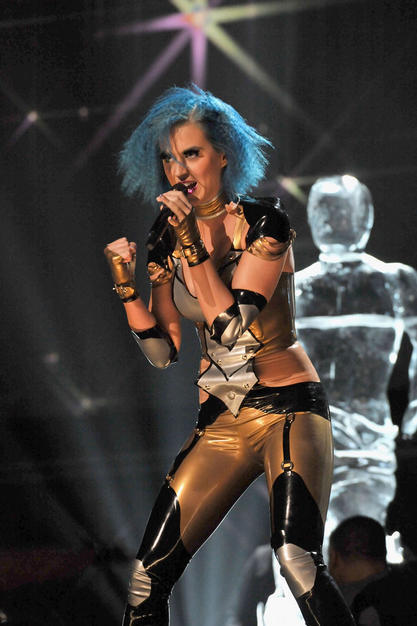 Katy Perry performs during the 54th Annual GRAMMY Awards