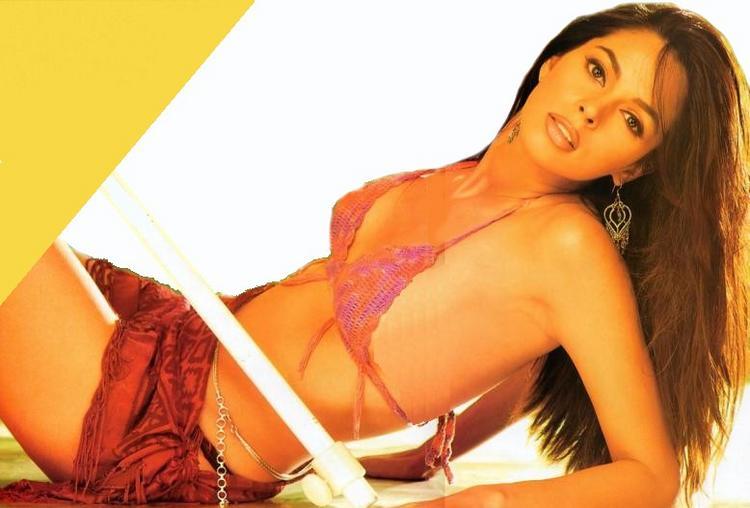 Mallika Sherawat Bikini Dress Spicy Wallpaper