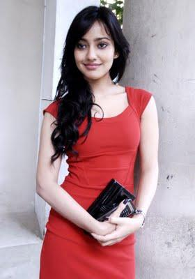 Neha Sharma Red Dress Sizzling Face Look