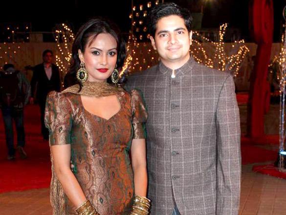 Nisha Rawal and Karan Mehra  at Vikas Kalantri wedding reception