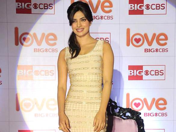 Priyanka Chopra Beauty Smile Pic at Love BIG CBS Show Launch