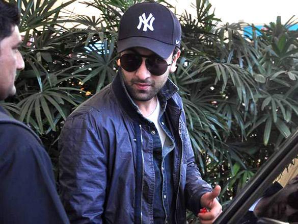 Ranbir Kapoor snapped at the Mumbai airport