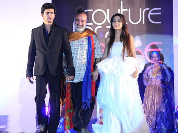 Sara Khan Walk Ramp at Couture for Cause Fashion Show in ITC Maratha