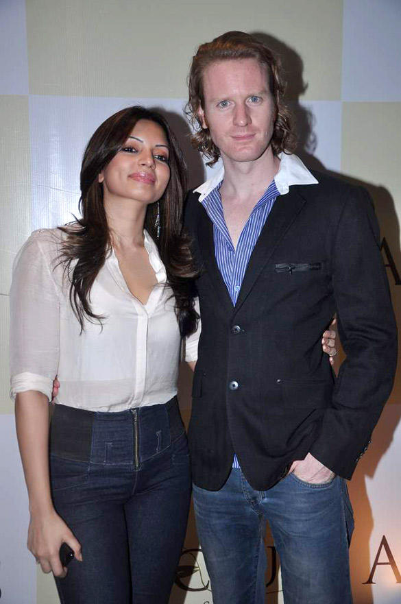 Shama Sikander and Alex at Apicius Resto Bar Launch
