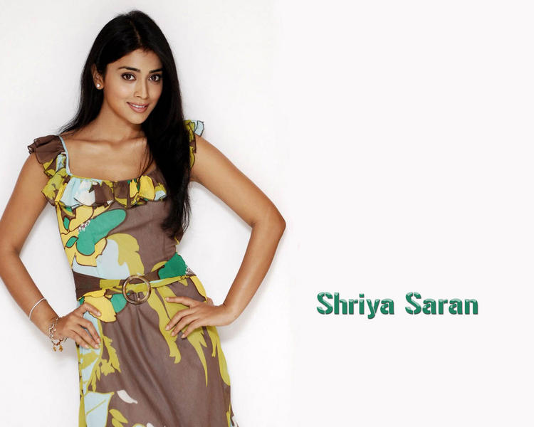 Shriya Saran Cute Face Still With Cute Dress