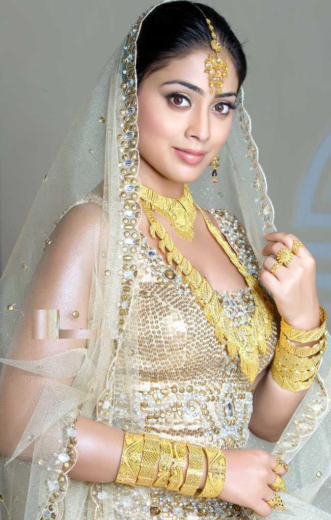 Shriya Saran Indial Bridal Dress Beauty Still
