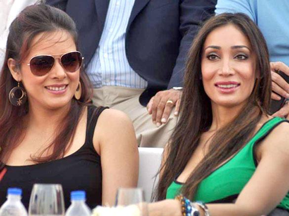 Udita Goswami and Sofia Hayat During Argentine VS Arc Polo Match