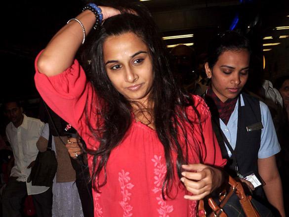 Vidya Balan and Shahid Kapoor leave for Zee Cine Awards