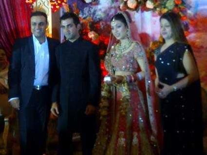 Virendra Sehwag Family at Gautum Gambhir and Natasha Jain Wedding