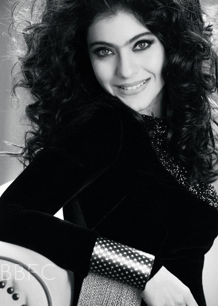 Kajol Devgan Black And White Sizzling Photo Shoot For Filmfare Magazine June 2013