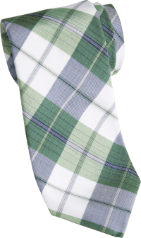 Mens Green Plaid Tie