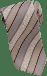 Joseph Abboud Taupe Stripe Narrow Tie - Men's Narrow (3 to ...