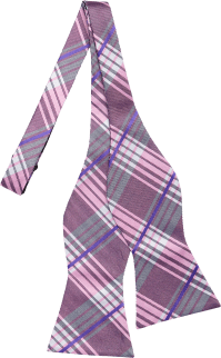 Tommy Hilfiger Pink Plaid Bow Tie - Men's Bow Ties | Men's ...