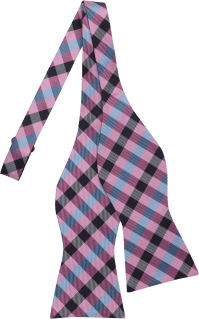 Tommy Hilfiger Pink Check Bow Tie - Men's Bow Ties | Men's ...