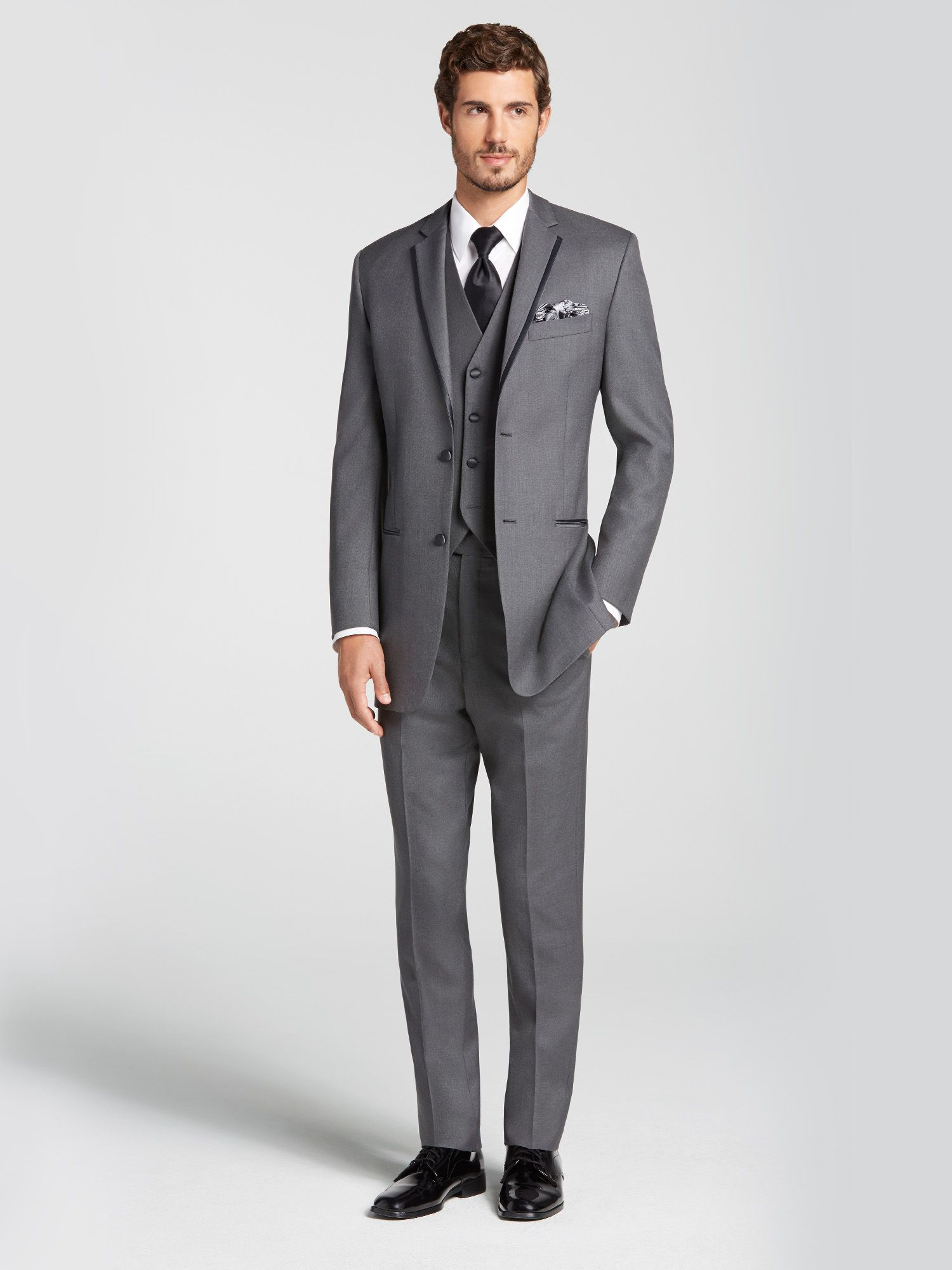 Gray Notch Lapel Tuxedo by Vera Wang  Tuxedo Rental  Mens Wearhouse