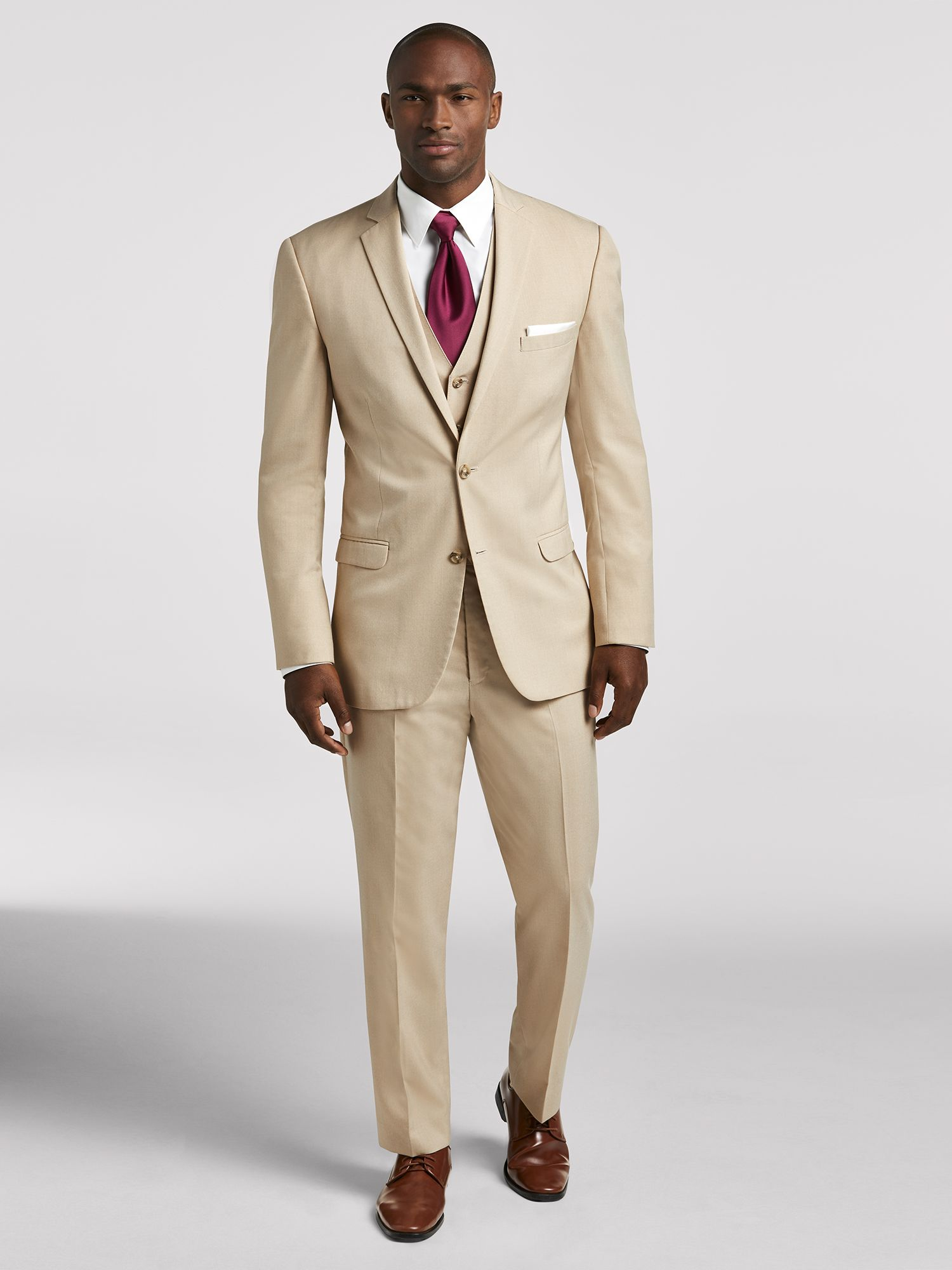 Vintage Tan Ivory Suit by Pronto Uomo  Suit Rental  Mens Wearhouse