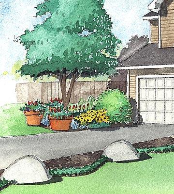 building ideas average backyard