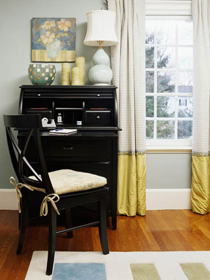 two-layer long curtain