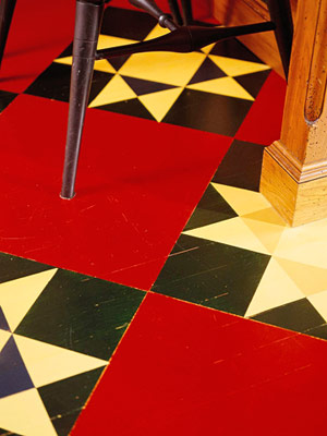 Painted floor detail