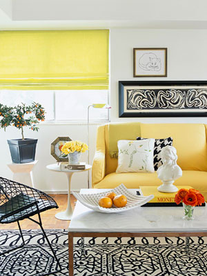 the estate of things chooses better homes and gardens yellow room