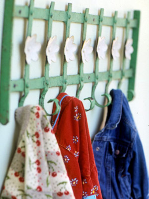 Fence coat rack