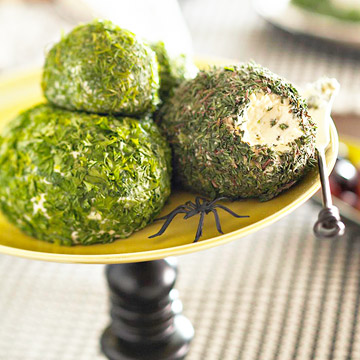Green cheese balls