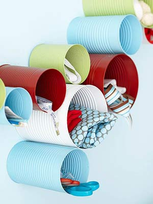 Colorful Tin Cans