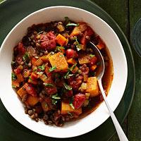 Squash and Lentil Stew