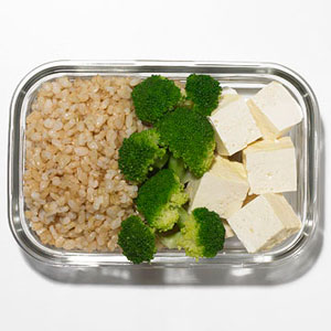 Brown Rice With Broccoli and Tofu